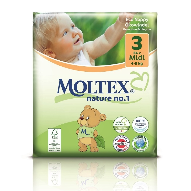 Plenky Moltex nature no.1 Midi 4-9 kg (34 ks)